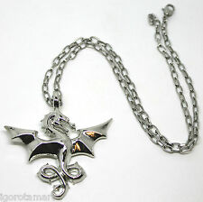 Sterling Silver Eagle Pendant  Brave 316L Steel Hunting Chain Necklace 20.5