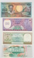 NINE DIFFERENT SURINAME 1980 TO 2000 BANKNOTES IN MINT CONDITION