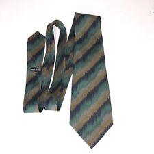 Giorgio Armani Mens Neck Tie Silk Flame Diagonal Stripe Pattern