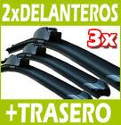 3 Escobillas Limpiaparabrisas Delanteros y Trasero para VW - AERO Flexibles