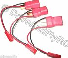 3x Nylon T Connector Deans Ultra Plug JST Male In Line Battery Adapter Connector