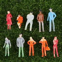 100pcs Painted Seated People Figures Model for Train Layout Scenery 1:100 Scale