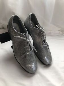 Footjoy Tailored Collection Womens Gray Faux Snake Skin Golf Spikeless Golf Shoe