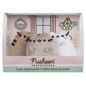 GUND Pusheen Family Parents Plush Set of 3 Cute Mother's Day Father's Day Gift