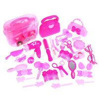 25/32PCS Pretend Play Kid Make Up Toys Pink Makeup Set Princess Hairdressing YAN
