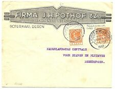 NEDERLAND 1937  GEILLUSTR. CV = FIRMA POTHOF LICHTENVOORDE =  FRAAI