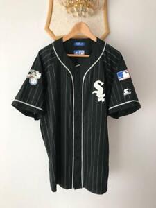 CHICAGO WHITE SOX PINSTRIPE MLB BASEBALL JERSEY VINTAGE STARTER 90S VTG MENS XL