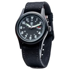 Smith & Wesson 38mm 3 Interchangeable Canvas Straps  Military Watch SWW-1464-BK