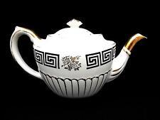 Gorgeous Vintage Teapot GIBSON Staffordshire England Greek Key Pattern
