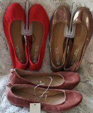 Ladies Slip On Shoes Flat Ballerina Slippers Round Toe size 6.5 & 6 FREE PAIR