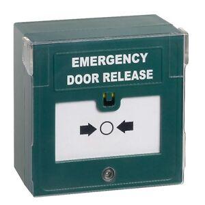 Break Glass Emergency Door Release / Green Call Point cover sounder & LED