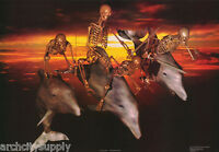 POSTER : FANTASY:  DEATH RIDE - SKELETONS -   FREE SHIPPING ! #R13  RP89 O
