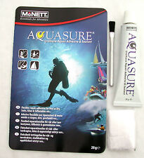 Scuba Diving AQUASURE neoprene DRY/ WET SUIT repair glue ADHESIVE seals BOOTS !!
