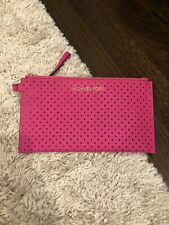 Michael Kors Hot Pink Wallet/wristlet Bag Perforated