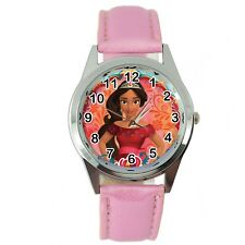 ELENA OF AVALOR Stainless Steel PINK LEATHER FILM CARTOON  ANIMATION TV WATCH
