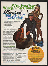 1969 NEMROD Treasure Hunt Contest - TREASURE CHEST SCUBA DIVING GEAR VINTAGE AD