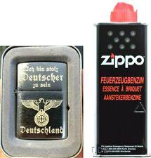 ICH BIN STOLZ DEUTSCHER ZU SEIN EK Reichsadler USA Markenbenziner + ZiPPO Benzin