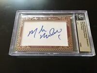 Mike Modano & Jeremy Roenick 2012 Leaf Masterpiece Cut Signature signed 1/1 JSA
