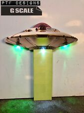 "G Scale Scratch Built ""Ufo� Flying Saucer Alien Background Flat 1/24 1/32"