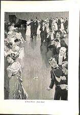 Danse Valse Dont la chaussure? de Franz Müller-Münster peintre ILLUSTRATION 1900