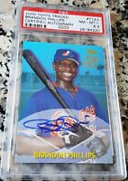 BRANDON PHILLIPS 2000 Topps AUTO Rookie Card RC PSA 8.5 Boston Red Sox $$ HOT $$