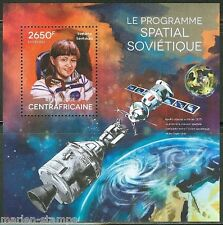 Central Africa 2014 Soviet Space Program Svetiana Savitskaia S/S Mint Nh