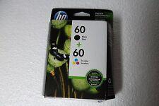 HP 60 Tri-color/Black Ink Cartridges F2480 C4680 D2660 Exp: 11/2018 N9H63FN NEW