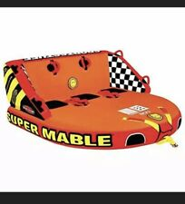 SportsStuff Super Mable | 1-3 Rider Towable Tube for Boating, Orange, Red,