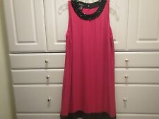 INC International Womens Red Cocktail Evening Dress Size 8 NWT Embellishments