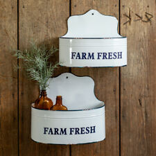 Farm Fresh new tin Wall Caddies - Box of 2