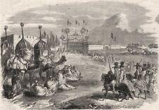The Arabs waiting the Emperor Napoleon's arrival at Biskara. Algeria, 1865