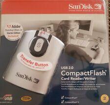 New, SanDisk Image Mate USB 2.0 CompactFlash Card Reader Writer High Speed Adobe