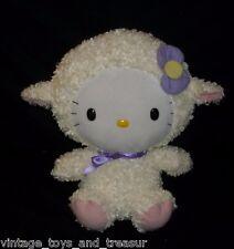 "12"" BIG BABY TY HELLO KITTY AS EASTER LAMB SHEEP STUFFED ANIMAL PLUSH TOY SANRIO"