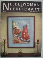 July 1952 - NEEDLEWOMAN and NEEDLECRAFT No.51 - Complete with original Transfer