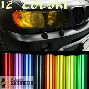 Pellicola adesiva colorata oscurante per fari fanali auto moto camion 12 colori