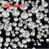Mix Size Crystal Clear Color Round Sew on Rhinestones Claw Beads Costumes Diaman