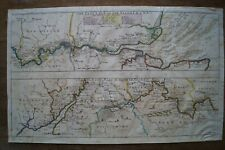 Antique map of whole River Thames c1720 by Harris - London, Oxford, Cotswolds
