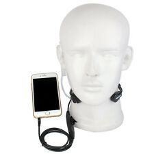 1 Pin PTT Throat Mic Flexible Acoustic Covert Tube Earpiece for Mobile Phone/PS4