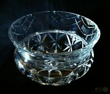 Vintage Cut Glass Bowl / Squat Vase Stepped With Flared Rim | FREE Delivery UK*
