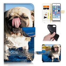 ( For iPod Touch 6 ) Wallet Flip Case Cover AJ40340 Bull Dog