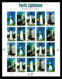 1¢ WONDER'S ~ MNH SOUVENIR SHEET W/ 41¢ PACIFIC LIGHTHOUSE (FV = $8.20) ~ S986