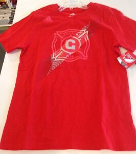 CHICAGO FIRE Adidas Launchpad Tee Shirt Size: Youth Large