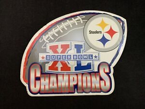 2006 Pittsburgh Steelers Super Bowl XL Champions Large Refrigerator Magnet