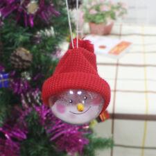 PVC Decoración De Navidad Colgante Redonda Bola Muñeco Nieve Adorno Árbol