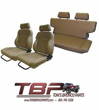 1966-1977 Early Ford Bronco Spice Front & Rear Seat Kit w/ hardware NEW