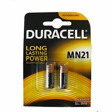 2 x DURACELL SECURITY MN21 23A 23AE A23 V23GA 12v ALKALINE BATTERY EXP 2019