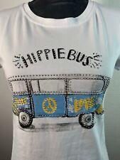 Shirt, T-Shirt, VW BUS, BULLY, Damen, weiß, Glitzer, Baumwolle, Motiv,Sommer