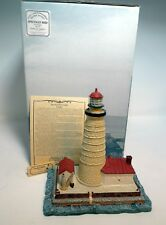 Harbour Lights Lighthouse 1995 Spectacle Reef Mi Hl410 Glows Open CoA Box Signed