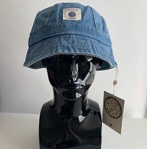 Pretty Green Denim Bucket Hat Blue Mens Hat L/XL Brand New Genuine