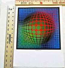 Victor Vasarely- Feny-Arny Poster Optical Art Patterns Unsigned 14X11